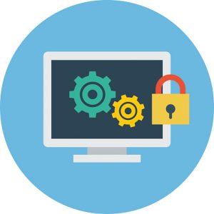 Computer Security Colored Vector Illustration